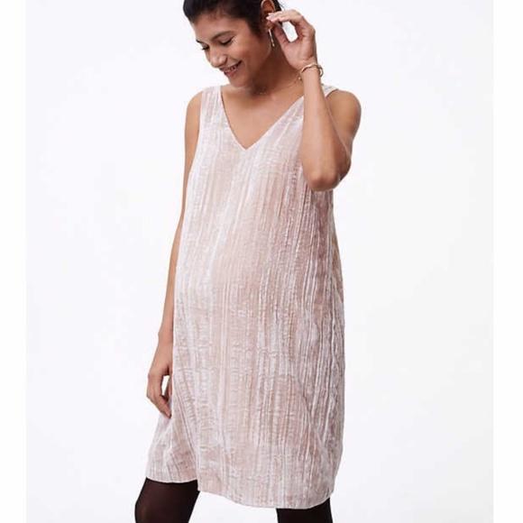 80da5041b4a04 LOFT Dresses | Hpmaternity Crushed Velvet Swing Dress | Poshmark